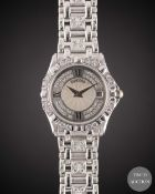 A LADIES 18K SOLID WHITE GOLD & DIAMOND CONCORD SARATOGA BRACELET WATCH CIRCA 1990s, REF. 61-36-