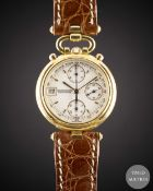 A LADIES 18K SOLID YELLOW GOLD JAEGER LECOULTRE GAIA CHRONOGRAPH WRIST WATCH CIRCA 1990s, REF. 411 7
