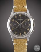 A GENTLEMAN'S STAINLESS STEEL EXCELSIOR PARK CHRONOGRAPH WRIST WATCH CIRCA 1950s, WITH GLOSS