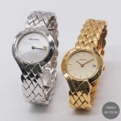 A LOT OF TWO 18K SOLID GOLD LADIES BRACELET WATCHES BY A. BARTHELAY TO INCLUDE ONE IN 18K SOLID