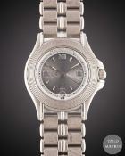 A GENTLEMAN'S SIZE 18K SOLID WHITE GOLD MAUBOUSSIN AUTOMATIC BRACELET WATCH CIRCA 1990s, REF. R02368
