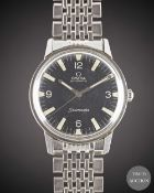 A GENTLEMAN'S STAINLESS STEEL OMEGA SEAMASTER AUTOMATIC BRACELET WATCH CIRCA 1967, REF. 165.002 WITH
