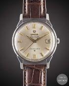 A GENTLEMAN'S STAINLESS STEEL OMEGA CONSTELLATION CHRONOMETER WRIST WATCH CIRCA 1967, REF. 168.005