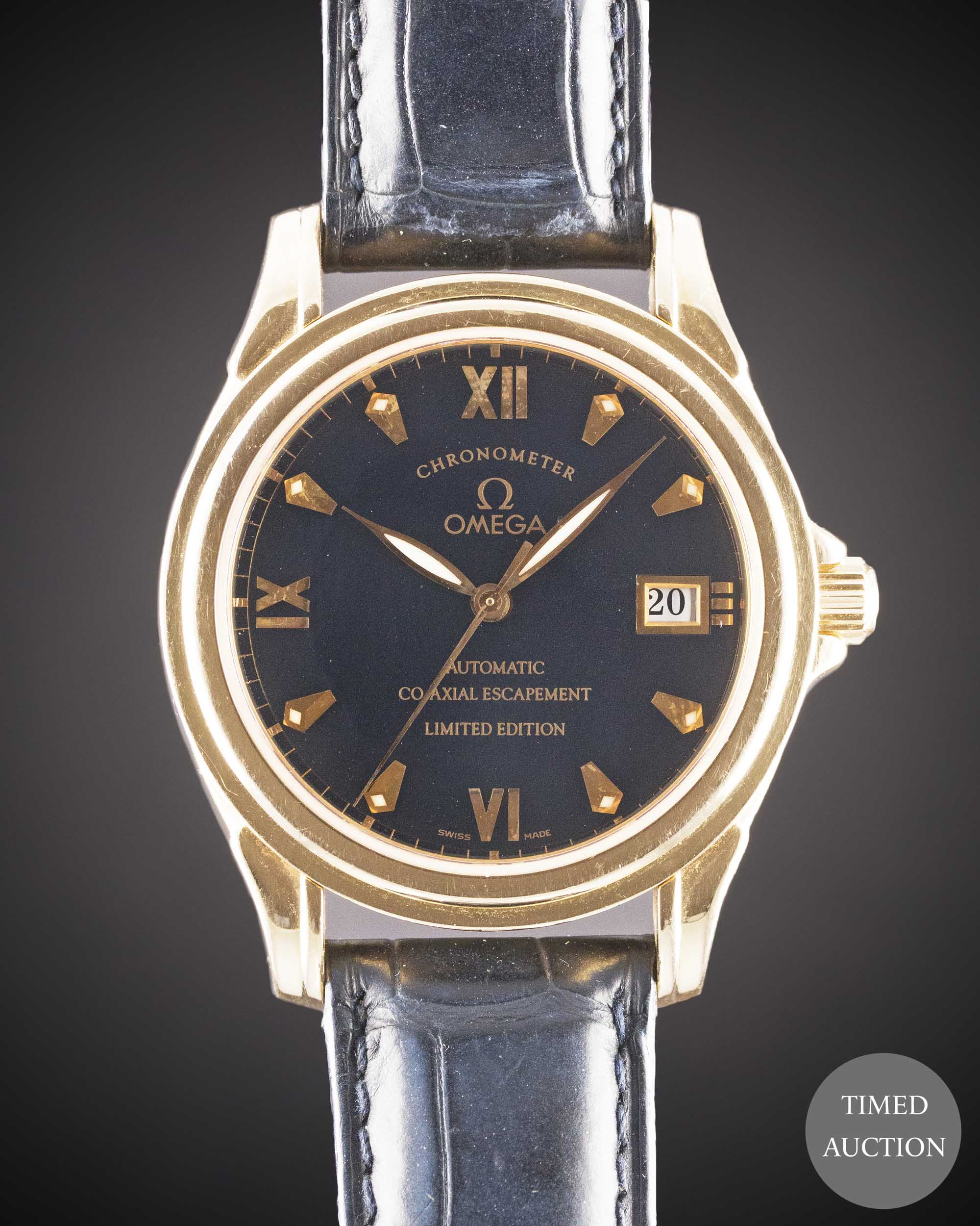 Lot 13 - A GENTLEMAN'S 18K SOLID ROSE GOLD OMEGA DE VILLE CO-AXIAL ESCAPEMENT AUTOMATIC CHRONOMETER WRIST