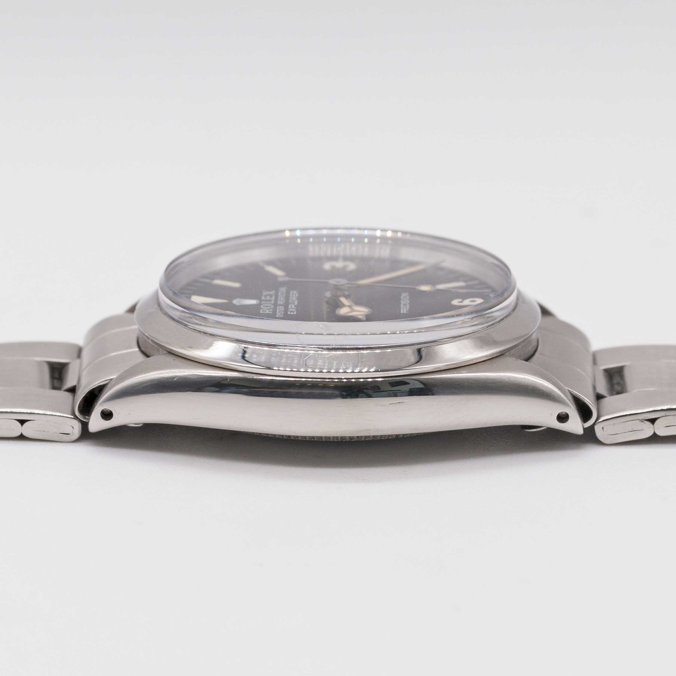 Lot 23 - A GENTLEMAN'S STAINLESS STEEL ROLEX OYSTER PERPETUAL EXPLORER PRECISION BRACELET WATCH CIRCA 1967,
