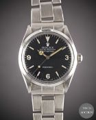 A GENTLEMAN'S STAINLESS STEEL ROLEX OYSTER PERPETUAL EXPLORER PRECISION BRACELET WATCH CIRCA 1967,