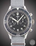 A GENTLEMAN'S STAINLESS STEEL GERMAN MILITARY HEUER BUND FLYBACK CHRONOGRAPH WRIST WATCH CIRCA 1970,