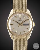 A GENTLEMAN'S 9CT SOLID GOLD OMEGA AUTOMATIC BRACELET WATCH CIRCA 1973 Movement: 24J, automatic,
