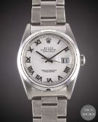 A GENTLEMAN'S STAINLESS STEEL ROLEX OYSTER PERPETUAL DATEJUST BRACELET WATCH CIRCA 2005, REF.