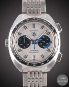 A GENTLEMAN'S STAINLESS STEEL TAG HEUER AUTAVIA AUTOMATIC CHRONOGRAPH BRACELET WATCH DATED 2003,