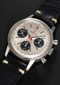 A GENTLEMAN'S STAINLESS STEEL BREITLING TOP TIME CHRONOGRAPH WRIST WATCH CIRCA 1969, REF. 810