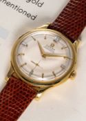 """A RARE GENTLEMAN'S 18K SOLID YELLOW GOLD OMEGA """"CENTENARY""""AUTOMATIC CHRONOMETER WRISTWATCH DATED"""
