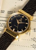 A VERY RARE GENTLEMAN'S 18K SOLID YELLOW GOLD OMEGA SEAMASTER CHRONOMETRE OFFICIALLY CERTIFIED