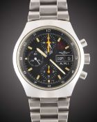 "A RARE GENTLEMAN'S STAINLESS STEEL ITALIAN MILITARY AIR FORCE ""AERONAUTICA MILITARE ITALIANA"" ("