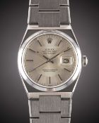 A GENTLEMAN'S STAINLESS STEEL ROLEX OYSTERQUARTZ DATEJUST BRACELET WATCH CIRCA 1979, REF. 17000 WITH