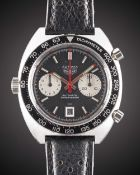 "A GENTLEMAN'S STAINLESS STEEL HEUER ""VICEROY"" AUTAVIA CHRONOGRAPH WRIST WATCH CIRCA 1970s, REF."
