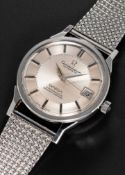 A RARE GENTLEMAN'S STAINLESS STEEL OMEGA CONSTELLATION AUTOMATIC CHRONOMETER BRACELET WATCH CIRCA