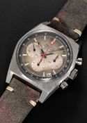 A GENTLEMAN'S STAINLESS STEEL ZENITH EL PRIMERO AUTOMATIC CHRONOGRAPH WRIST WATCH CIRCA 1970, REF.