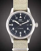 A GENTLEMAN'S STAINLESS STEEL IWC MARK XVIII PILOTS WRIST WATCH DATED 2018, REF. 327007 IWC