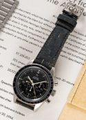 """A RARE GENTLEMAN'S STAINLESS STEEL OMEGA SPEEDMASTER """"ED WHITE"""" CHRONOGRAPH BRACELET WATCH DATED"""
