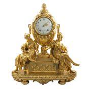 A RARE & LARGE LOUIS XVI ORMOLU STRIKING URN MANTEL CLOCK BY LEPAUTE, PARIS CIRCA LATE 18TH