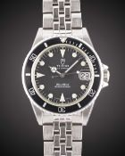 A MID SIZE STAINLESS STEEL ROLEX TUDOR PRINCE OYSTERDATE SUBMARINER BRACELET WATCH DATED 1996,