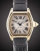 A GENTLEMAN'S SIZE 18K SOLID YELLOW GOLD CARTIER ROADSTER AUTOMATIC WRIST WATCH DATED 2007, REF.