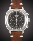 A GENTLEMAN'S STAINLESS STEEL HEUER CAMARO CHRONOGRAPH WRIST WATCH CIRCA 1970, REF. 7220NT WITH