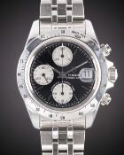 A GENTLEMAN'S STAINLESS STEEL ROLEX TUDOR PRINCE DATE AUTOMATIC CHRONO TIME CHRONOGRAPH BRACELET