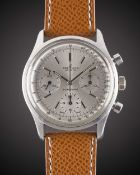 """A GENTLEMAN'S STAINLESS STEEL BREITLING TOP TIME CHRONOGRAPH WRIST WATCH CIRCA 1964, REF. 810 """""""