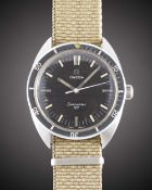 A GENTLEMAN'S STAINLESS STEEL AFGHANISTAN AIR FORCE OMEGA SEAMASTER 120 MILITARY WRIST WATCH CIRCA