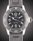 A GENTLEMAN'S STAINLESS STEEL JAEGER LECOULTRE MASTER COMPRESSOR DIVING AUTOMATIC WRIST WATCH