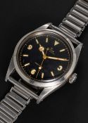 """A VERY RARE GENTLEMAN'S STAINLESS STEEL ROLEX OYSTER PERPETUAL PRECISION """"PRE EXPLORER"""" BRACELET"""