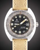 A GENTLEMAN'S STAINLESS STEEL DOXA SUB 300T SHARKHUNTER DIVERS WRIST WATCH CIRCA 1970s, REF. 58098-