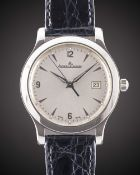 A GENTLEMAN'S LARGE SIZE STAINLESS STEEL JAEGER LECOULTRE MASTER CONTROL DATE 1000 HOURS WRIST WATCH