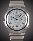 A RARE GENTLEMAN'S STAINLESS STEEL HEUER CORTINA AUTOMATIC CHRONOGRAPH BRACELET WATCH CIRCA 1977,