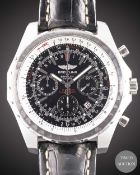 A STAINLESS STEEL BREITLING BENTLEY MOTORS T CHRONOGRAPH WRIST WATCH CIRCA 2007, REF. A25363 WITH