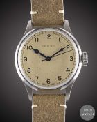 A GENTLEMAN'S STAINLESS STEEL LONGINES HERITAGE MILITARY WRIST WATCH DATED 2019, REF. L28194932,