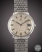 A GENTLEMAN'S STAINLESS STEEL OMEGA DE VILLE AUTOMATIC BRACELET WATCH CIRCA 1970, WITH BRUSHED