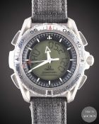 A GENTLEMAN'S TITANIUM OMEGA SPEEDMASTER PROFESSIONAL X-33 WRIST WATCH DATED 1998, REF. 39905006