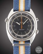 A GENTLEMAN'S LARGE SIZE STAINLESS STEEL OMEGA SEAMASTER CHRONOSTOP WRIST WATCH CIRCA 1969, REF.
