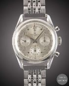 "A GENTLEMAN'S STAINLESS STEEL WAKMANN CHRONOGRAPH BRACELET WATCH CIRCA 1960s, WITH ""TWISTED"""