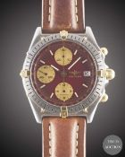 A GENTLEMAN'S STEEL & GOLD BREITLING CHRONOMAT CHRONOGRAPH WRIST WATCH CIRCA 1990s, REF. 81.950 WITH