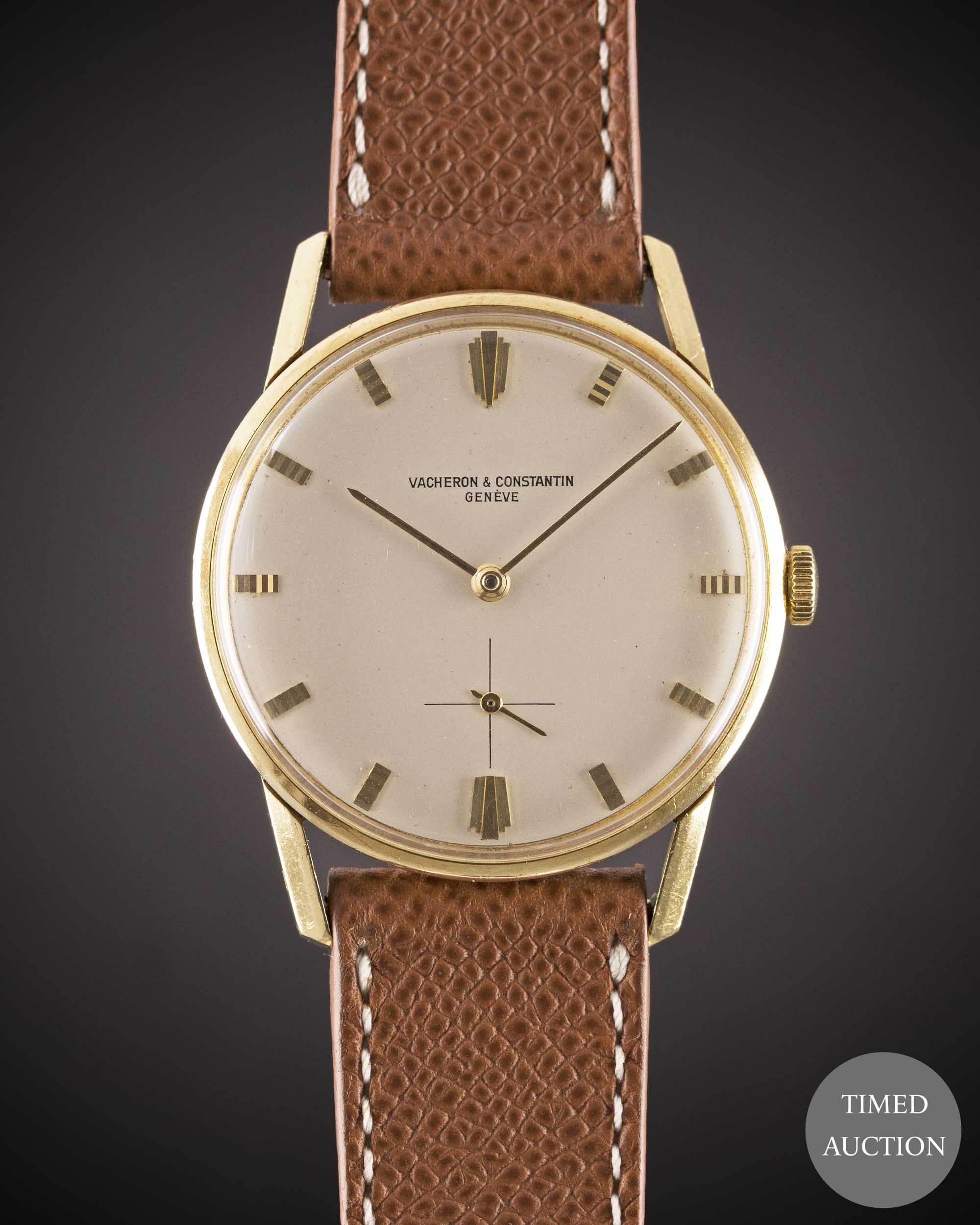Lot 21 - A GENTLEMAN'S 18K SOLID YELLOW GOLD VACHERON & CONSTANTIN WRIST WATCH CIRCA 1960s, REF. 6484 WITH ""