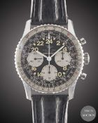 "A GENTLEMAN'S STAINLESS STEEL BREITLING 24 HOUR ""COSMONAUTE"" CHRONOGRAPH WRIST WATCH CIRCA 1965,"
