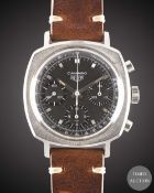 A GENTLEMAN'S STAINLESS STEEL HEUER CAMARO CHRONOGRAPH WRIST WATCH CIRCA 1970, REF. 7220NT WITH