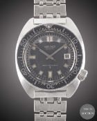 A RARE GENTLEMAN'S STAINLESS STEEL SEIKO 150M AUTOMATIC DIVERS BRACELET WATCH CIRCA 1970s, REF.