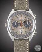 A GENTLEMAN'S STAINLESS STEEL HEUER CARRERA AUTOMATIC CHRONOGRAPH WRIST WATCH CIRCA 1970s, REF. 1153