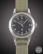 A GENTLEMAN'S STAINLESS STEEL BRITISH MILITARY SMITHS WRIST WATCH DATED 1970 Movement: 17J, manual