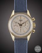 A GENTLEMAN'S 18K SOLID YELLOW GOLD HEUER CLASSIC CARRERA CHRONOGRAPH WRIST WATCH CIRCA 2000, REF.